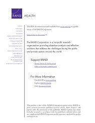 Social Control of Health Behavior - RAND Corporation