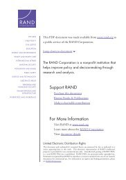 Sexual Orientation and US Military Personnel Policy - RAND ...