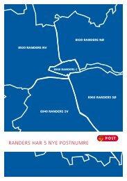 RANDERS HAR 5 NYE POSTNUMRE - Randers Kommune