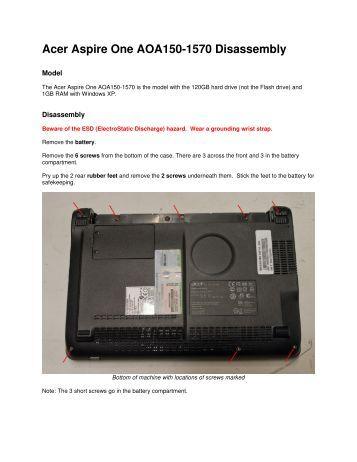 Acer Aspire One AOA150-1570 Disassembly - Dalekeller.net