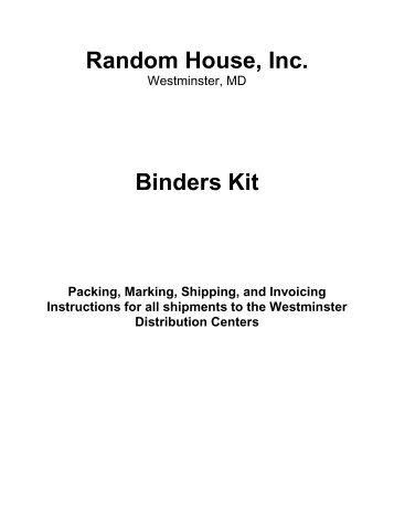 Bindery instructions - Randomhouse.biz