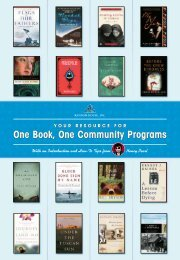 One Book, One Community Programs One Book, One Community