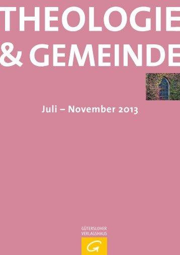 Theologie & Gemeinde - Herbst 2013 - Verlagsgruppe Random ...
