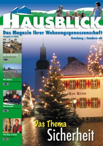 Wir sind für Sie da - Arnsberger Wohnungsbaugenossenschaft eG