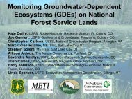 Monitoring Groundwater-Dependent Ecosystems on National Forest ...