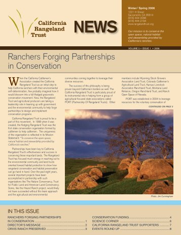 CRT - Summer 2006 Newsletter - The California Rangeland Trust