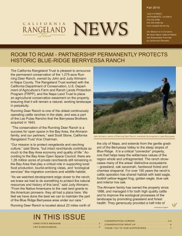 IN THIS ISSuE - The California Rangeland Trust