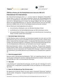IÖW/future-Ranking der Nachhaltigkeitsberichte deutscher KMU 2011