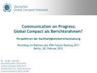 Präsentation von Dr. Jürgen Janssen, Deutsches Global Compact ...