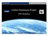Carbon Disclosure Project - IÖW/future-Ranking der ...