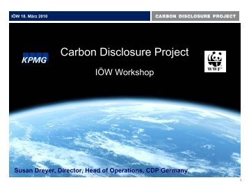 Carbon Disclosure Project - IÖW/future-Ranking der ...