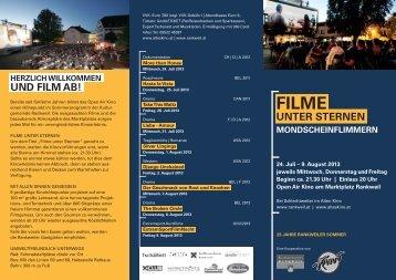Filme unter Sternen 2013 - Katholische Kirche Vorarlberg