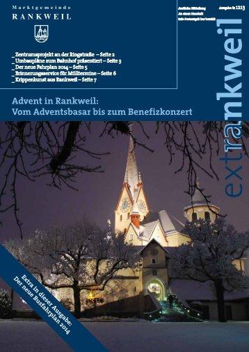 extRankweil Dezember 2013 - Marktgemeinde Rankweil