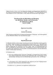 Verordnung über die Reinhaltung und Reinigung der öffentlichen ...