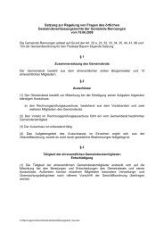 Satzung zur Regelung von Fragen des örtlichen ...