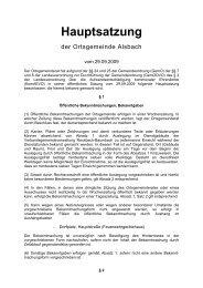 Hauptsatzung Alsbach - Verbandsgemeinde Ransbach-Baumbach