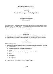 Satzung über die Erhebung von Friedhofsgebühren