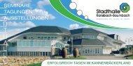 Info Flyer Seminaren, Tagungen und Ausstellungen in der ...