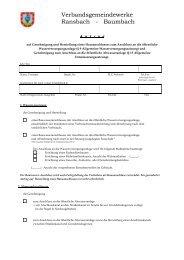 Formular für einen Antrag zum Anschluss an die öffentliche ...