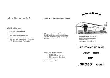 Informationsbroschüre des Kindergarten St. Antonius