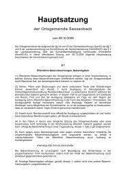 Hauptsatzung Sessenbach - Verbandsgemeinde Ransbach ...