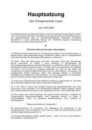Hauptsatzung Caan - Verbandsgemeinde Ransbach-Baumbach
