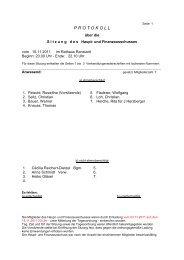 Protokoll 1 Seite _Anwesenheitsliste_ H+F 15 11 2011 - Gemeinde ...
