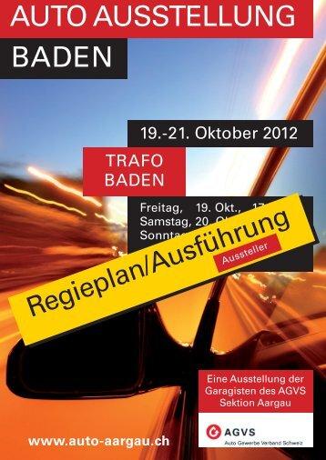 Regieplan Aussteller Baden 2012 - Auto Aargau