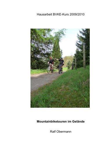 Mountainbiken im Gelände - Raphaelshaus