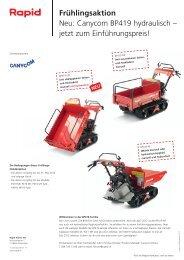 Canycom BP419 hydraulisch - Rapid Technic AG