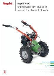 Rapid REX unbelievably light and agile, safe on ... - Rapid Technic AG