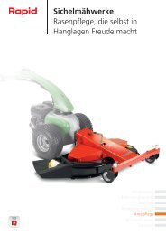 Sichelmähwerke Rasenpflege, die selbst in ... - Rapid Technic AG