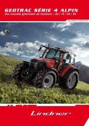 GEOTRAC SéRiE 4 Alpin - Lindner Traktoren