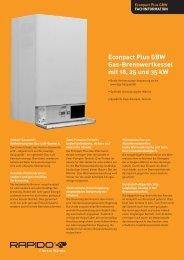 Econpact Plus GBW Gas-Brennwertkessel mit 18, 25 und 35 kW