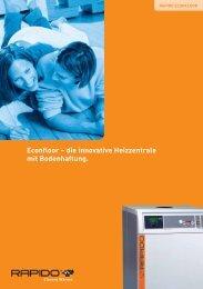 Econfloor – die innovative Heizzentrale mit Bodenhaftung.