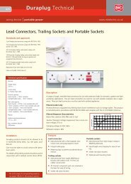 Duraplug Technical - Rapid Electronics