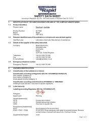 Safety Data Sheet - Rapid Electronics