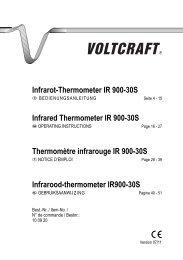 Infrarot-Thermometer IR 900-30S - Produktinfo.conrad.com