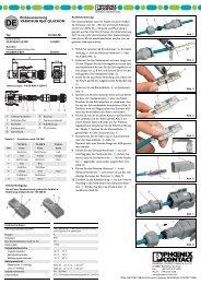 Installation istructions VARIOSUB RJ45 QUICKON