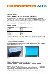 UPtoDATE Laser marking for film capacitors from India - DigiKey