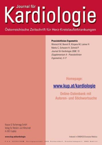 Praxisleitlinien Ergometrie - Österreichische Kardiologische ...