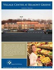 Village Center at Belmont Greene 8.5 X 11 Leasing Sheet