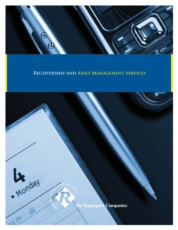 REcEivERShiP ANd ASSEt MANAGEMENt SERvicES