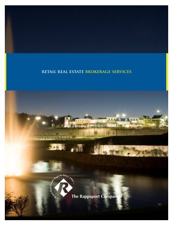 REtAil REAl EStAtE bROkERAGE SERvicES - The Rappaport ...