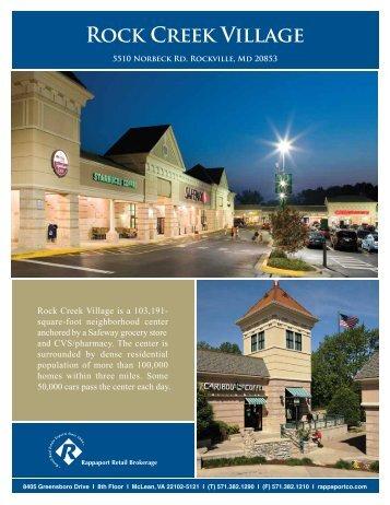 Rock Creek Village Letter 2013_07_09 - The Rappaport Companies