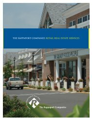 Rapp Retail Real Estate Services - The Rappaport Companies