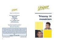 Trisomy 14 mosaicism FTNP.pub - Unique - The Rare Chromosome ...