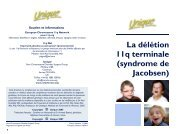 syndrome de Jacobsen - Unique - The Rare Chromosome Disorder ...