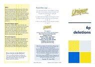 6p deletions - Unique - The Rare Chromosome Disorder Support ...