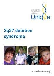 2q37 deletion syndrome FTNW - Unique - The Rare Chromosome ...